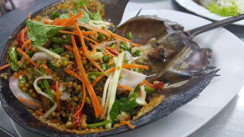 seafood king crab horseshoe crab