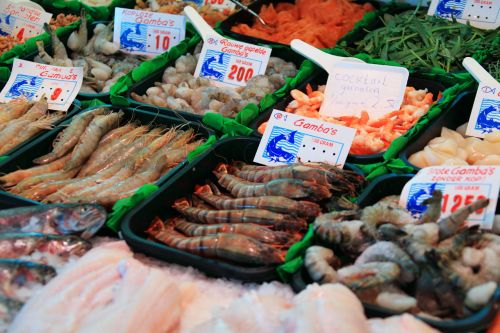 Seafood On Counter
