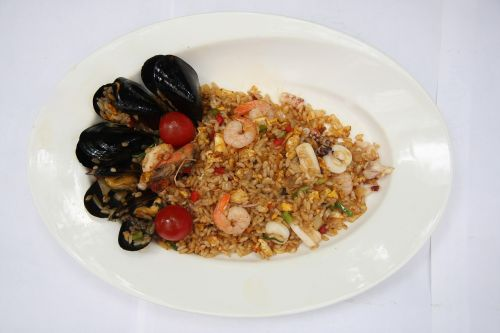 seafood pilaf cooking fusion cuisine