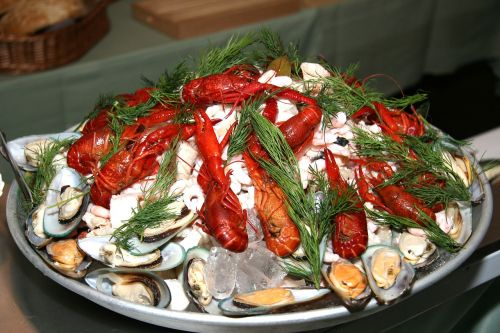 seafood platter crayfish mussels