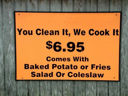 Seafood Restaurant Sign