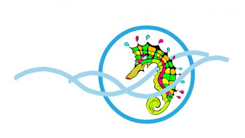 seahorse logo water
