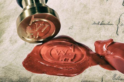 seal sealing wax certificate