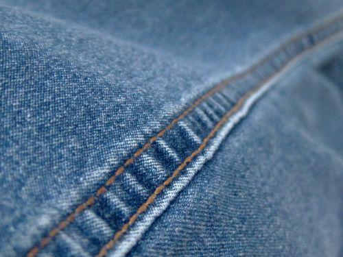 Seam In Blue Jeans