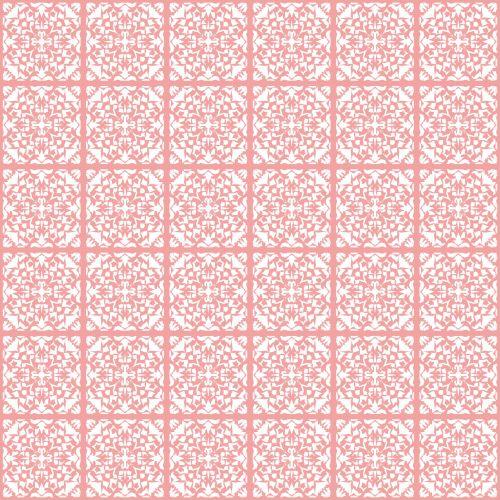Seamless Pattern White On Pink