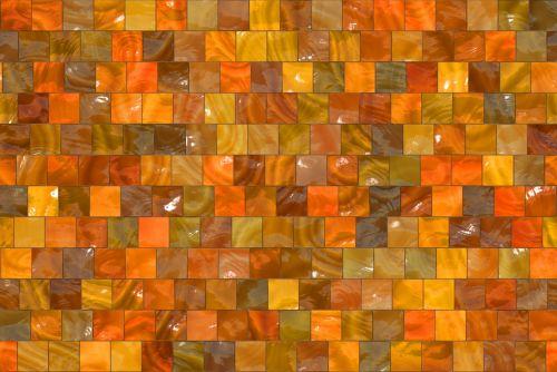 Seamless Squares Autumn Background