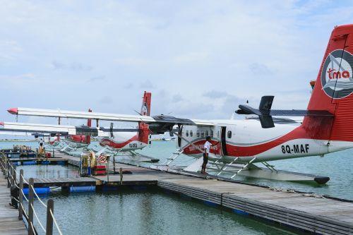 seaplane trans maldivian airways airline