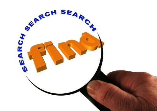 search to find magnifying glass