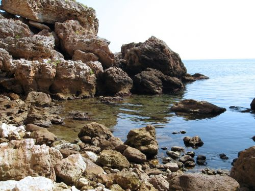 seascape rocks sea