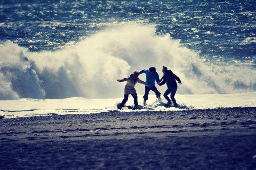 seaside beach wave