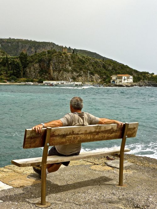 seaside relax contemplate