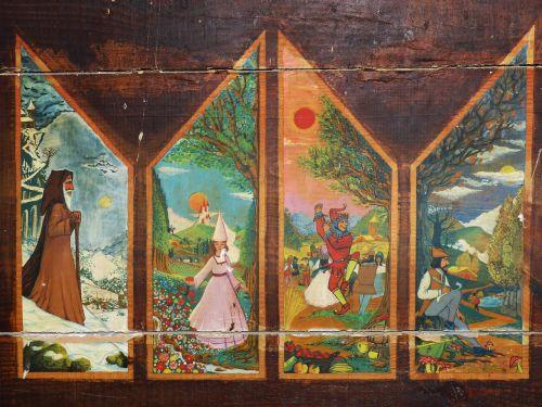 seasons table painting