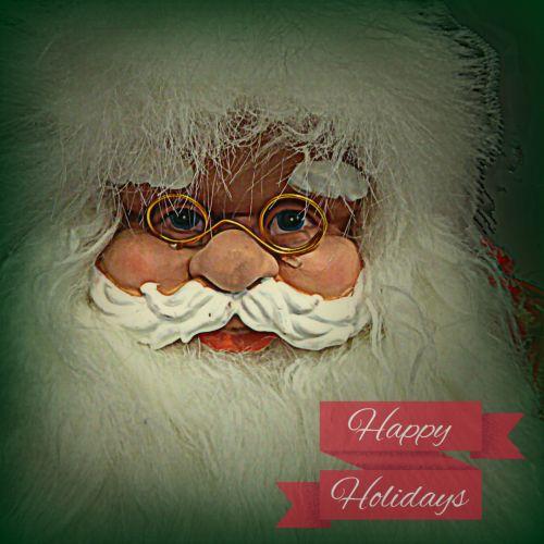 Seasons Greetings Santa Face