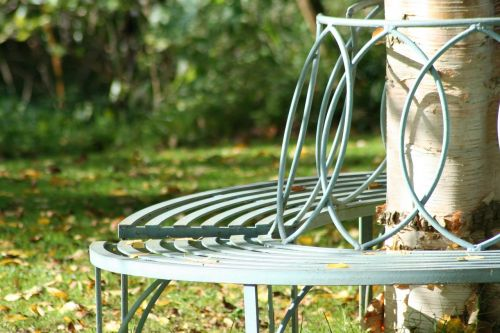 seat garden tree seat