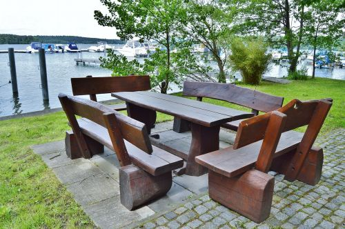 seat combination wood rustic