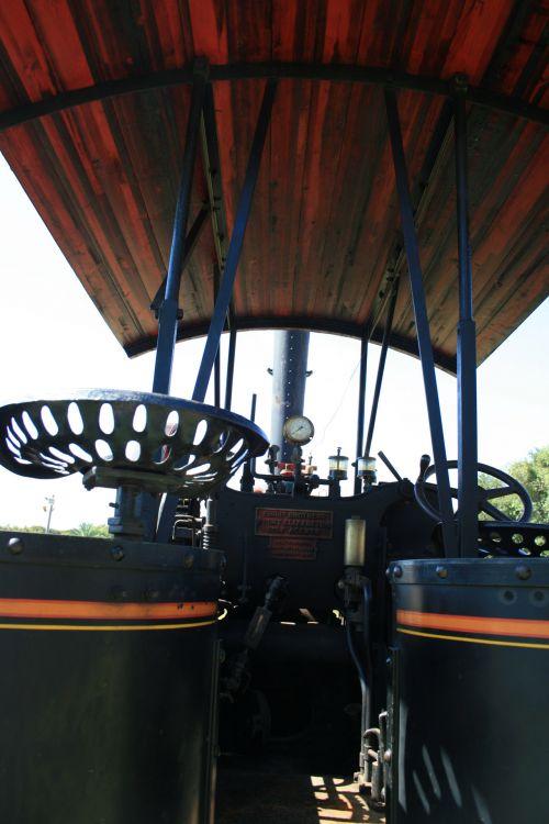 variklis, garai, mobilus, galia, sėdynė, Žemdirbystė, istorinis, sėdynė garo variklyje