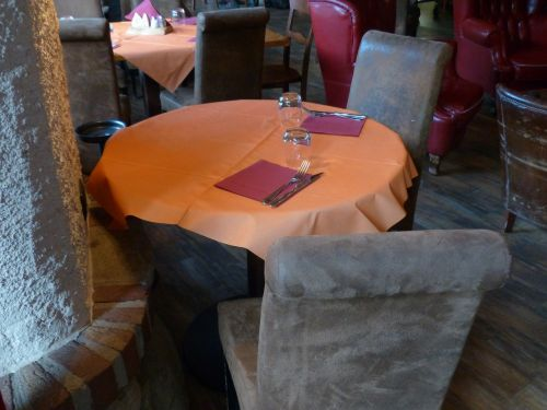 seating area restaurant table