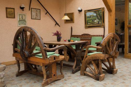seating area rustic rural