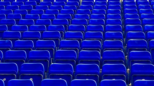 seats chairs blue