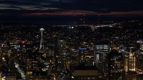 seattle aerial view panorama