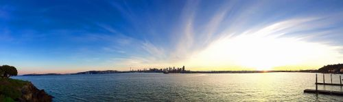 seattle skyline beach