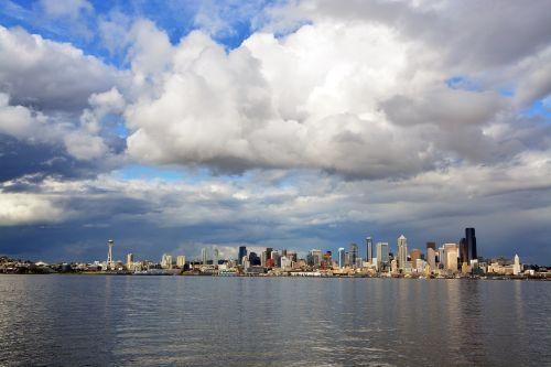 seattle skyline urban