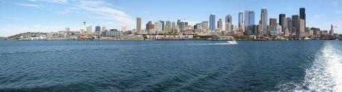 seattle skyline ferry