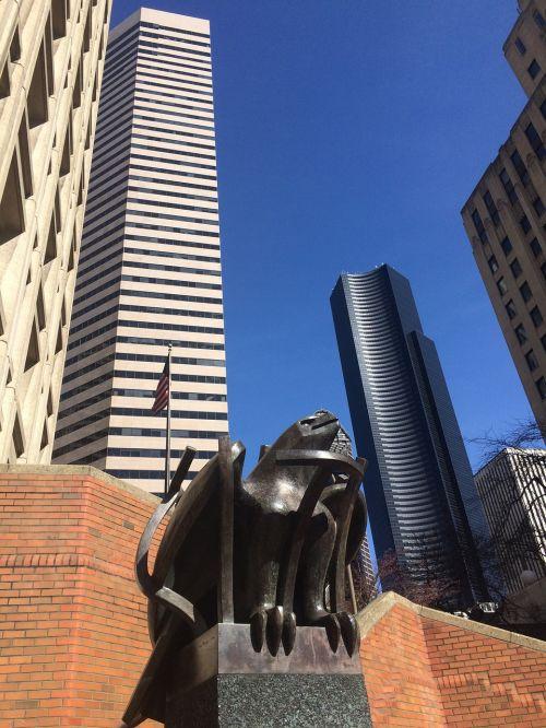 seattle skyscrapers sculpture