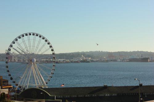 Seattle Water View - Ferris Wheel