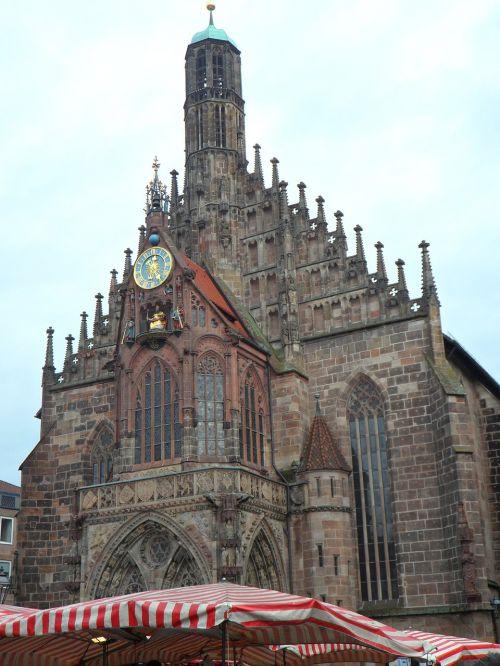 sebaldskirche market market umbrellas