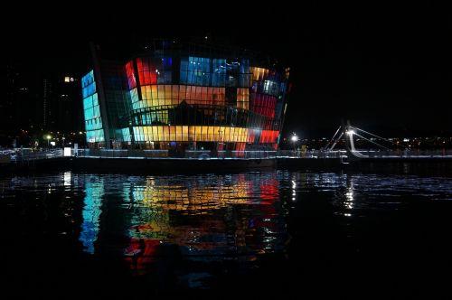sebit floating island night view seoul
