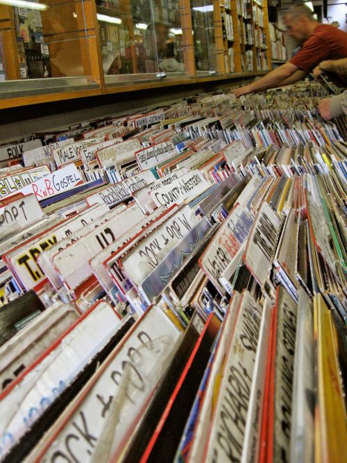 second hand record shop