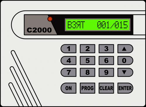 security electronics keypad