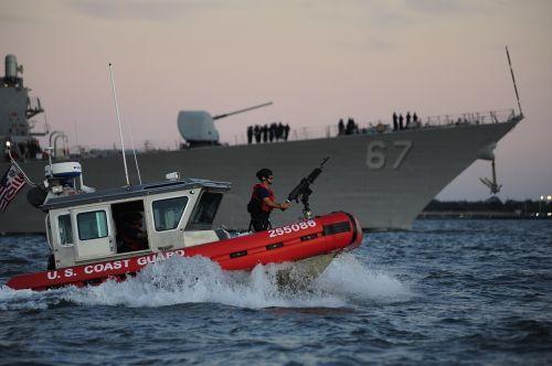 security escort boat coast guard