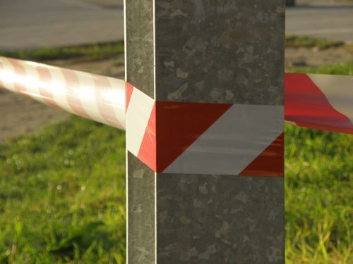 security tape red white