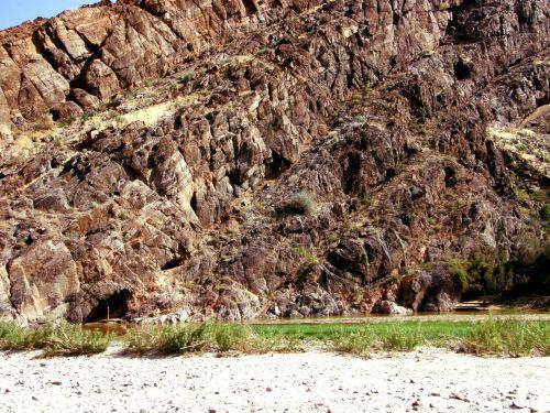rockface, nuosėdos, Rokas, akmenys, uolos, kalvos, akmuo, dykuma, plikas, desolate, Namibija, nuosėdinis uolos uolos