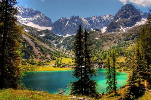 seebensee tyrol bergsee