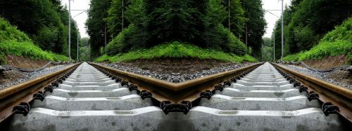 seemed railway optical effect