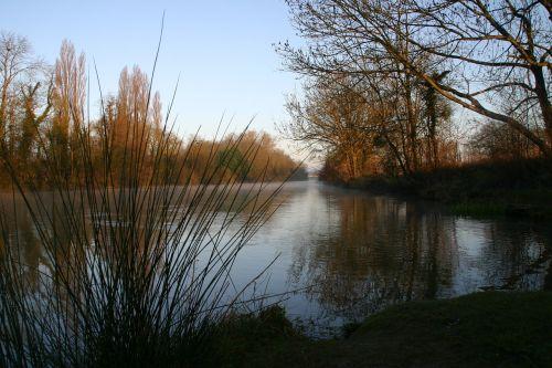 seine river dawn