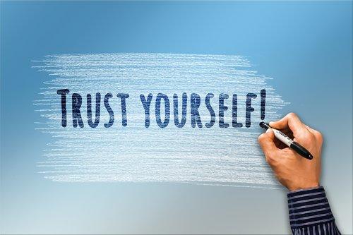 self confidence  trust  hand
