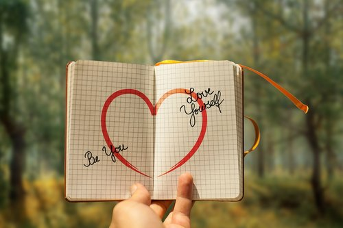 self love  heart  diary