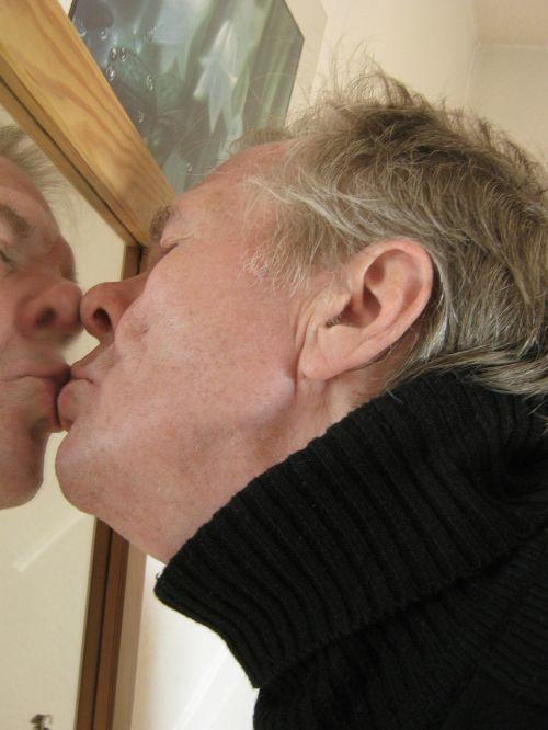 self love man mirror