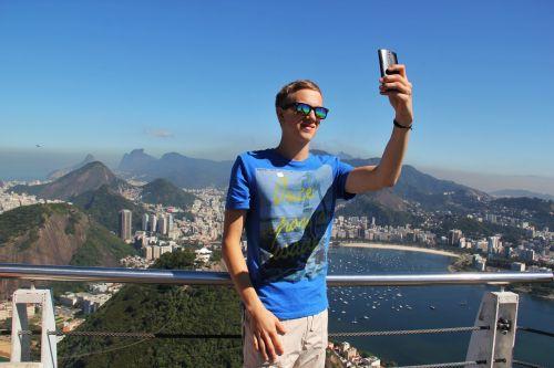 selfie rio de janeiro sugarloaf