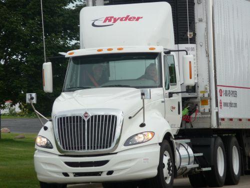 semi driving truck