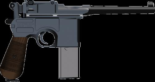 semi-automatic gun gun pistol