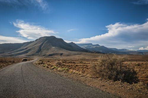 semi-desert road semi