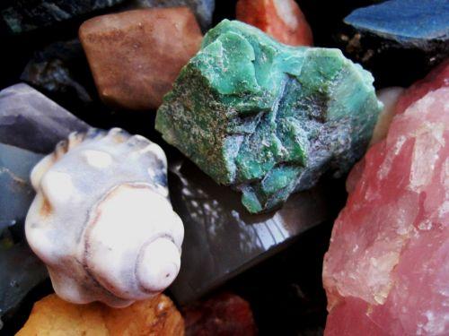 Semi-precious Stones And A Shell