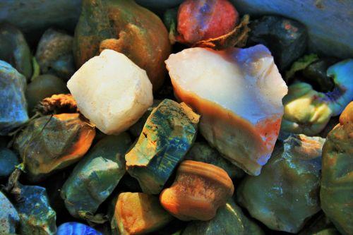 Semi-precious Stones In Light