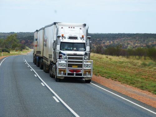 semi trailers truck road