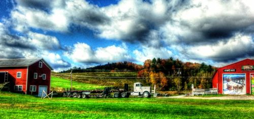Semi Truck In The Country